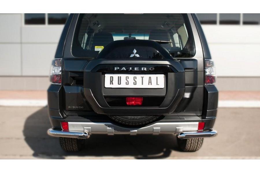Mitsubishi Pajero 4 2014- Защита заднего бампера уголки d63(секции)