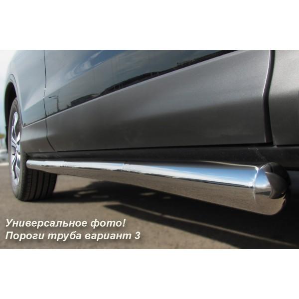 CHEVROLET NIVA 2002-2009 Пороги труба d63 (вариант 3) NCT-0001803
