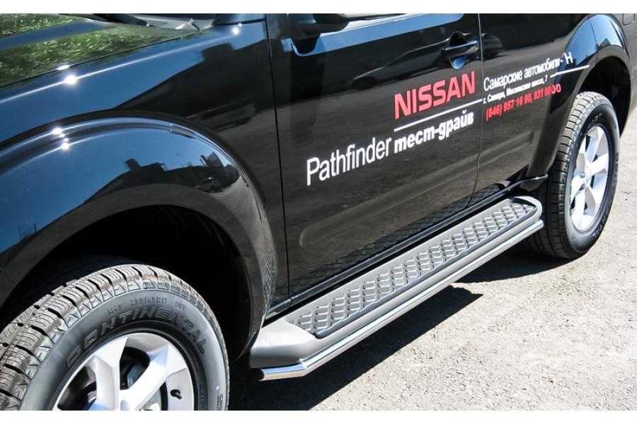 Nissan Pathfinder 2010-2013 пороги труба d42 (вариант 1) NNT-0003551
