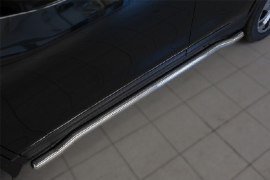 Nissan X-Trail 2015 Пороги труба d63 (вариант 3)