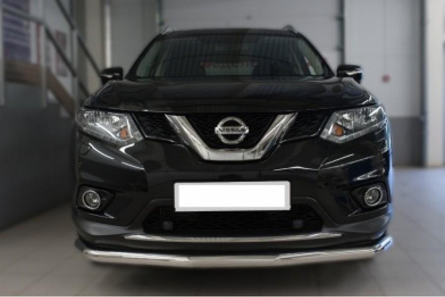 Nissan X-Trail 2015 Защита переднего бампера d63 (секции)