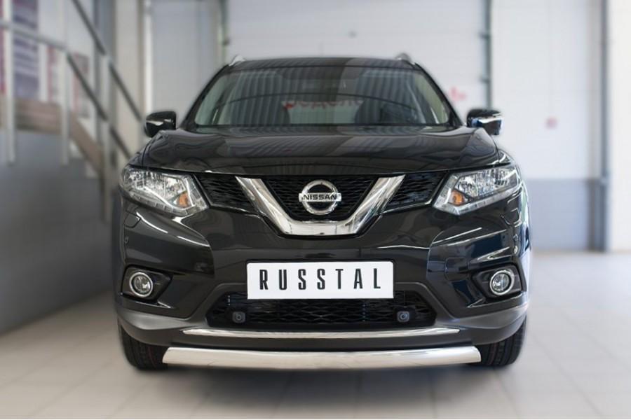 Nissan X-Trail 2015 Защита переднего бампера d75х42 (дуга)