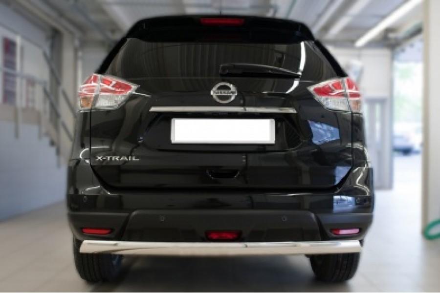 Nissan X-Trail 2015 Защита заднего бампера d75х42 (дуга)