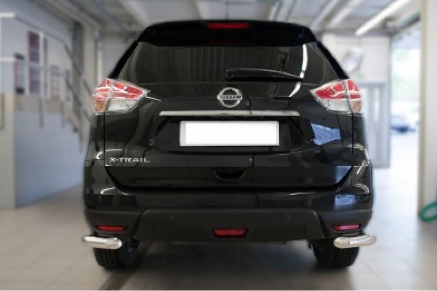Nissan X-Trail 2015 Защита заднего бампера уголки d63(секции)