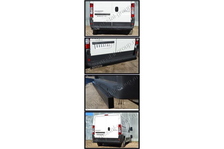 Защита заднего бампера d80x40 чм (отбойник)