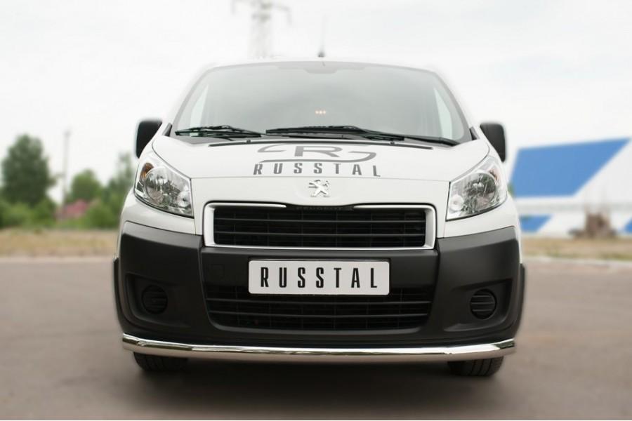 Peugeot Expert 2007- Защита переднего бампера d63 (секции)