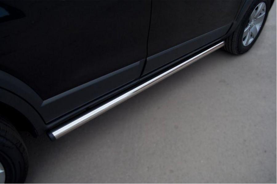 Mitsubishi Pajero Sport 2010-2012 Пороги труба d76 (вариант 2) PST-0009262