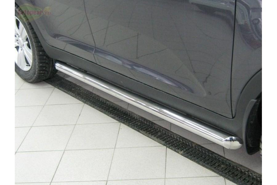 Mitsubishi Pajero Sport 2010-2012 пороги труба d76 (вариант 3) PST-0009263