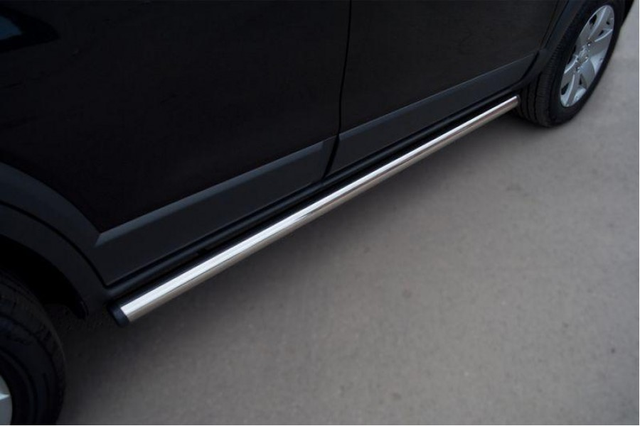 Mitsubishi Pajero Sport 2010-2012 Пороги труба d63 (вариант 2) PST-0009272