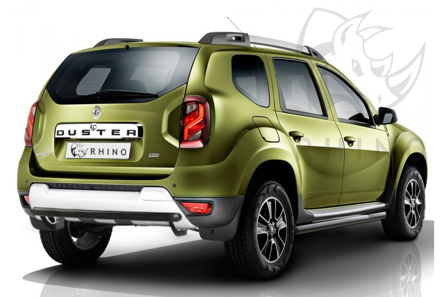 Renault Duster 2015- Пороги труба d63 ч. сталь черн. (вариант 1) RDTBR-0021801CH