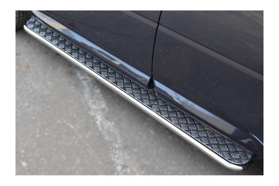 Land Rover Evoque Prestige u Pure 2011Пороги труба d42 (Лист алюм, проф. сталь) (Вариант2) REPL-0008072