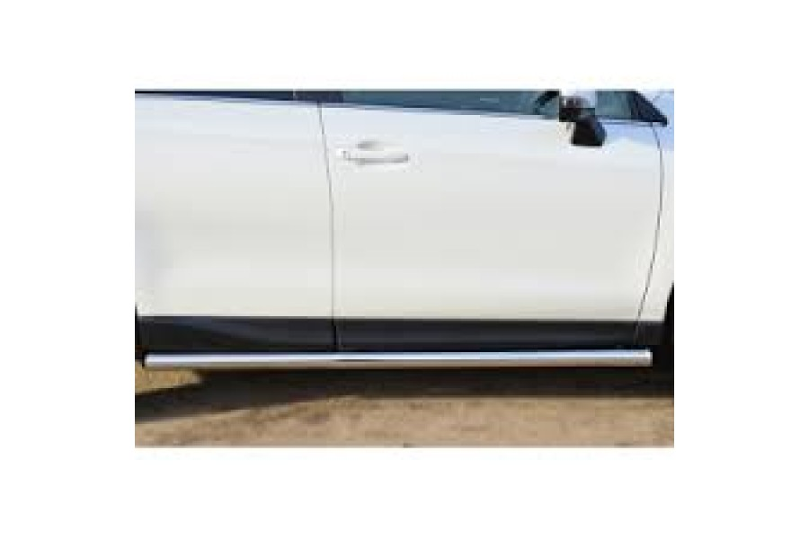 Subaru Forester 2013 Пороги труба d63 (вариант 3) (без брызговиков) SUFT-0015993
