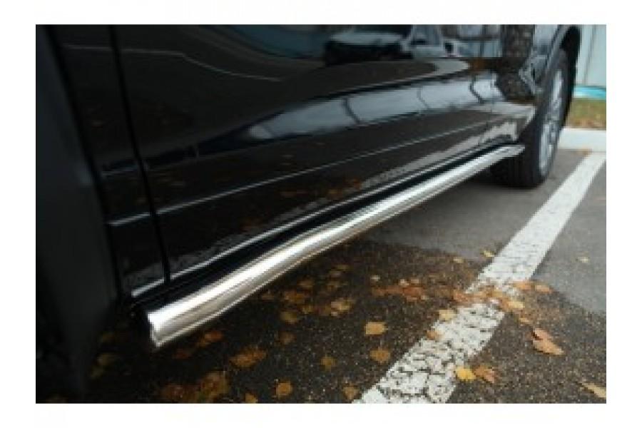 Toyota Highlander 2014- Пороги труба d63 с листом (вариант 2)