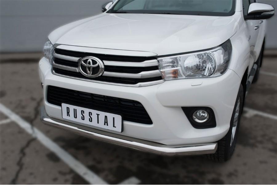 Toyota Hilux 2015 Защита переднего бампера d76 (секции)