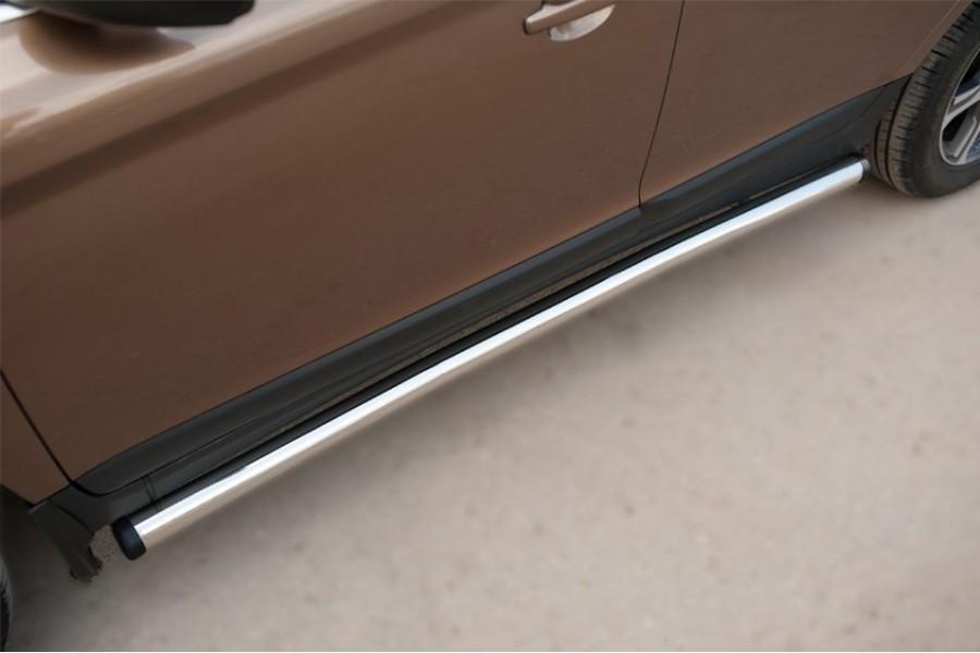 Volvo XC 60 2008-2013 Пороги труба d63 (вариант 2)