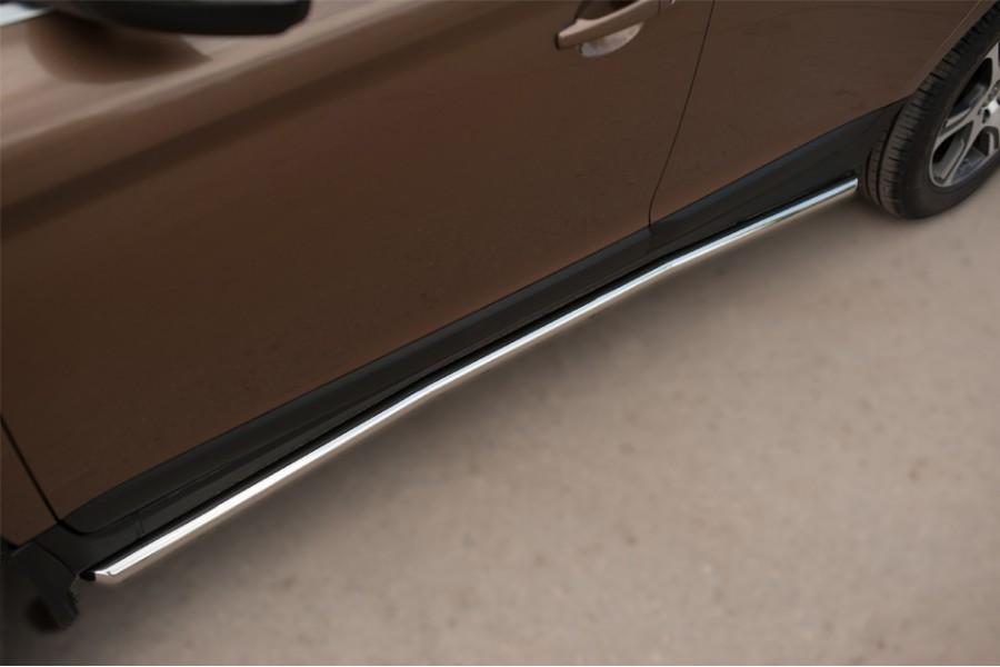 Volvo XC 60 2008-2013 Пороги труба d63 (вариант 3)