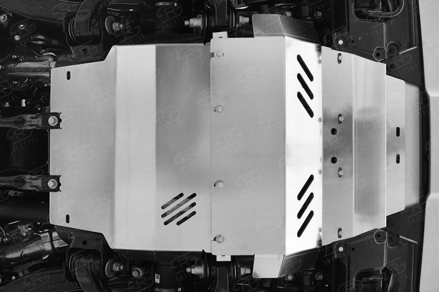 LEXUS LX450d-LX570 2015 (кроме F-Sport) Защита радиатора,защита картера (комплект) ZKLLX15-001-2