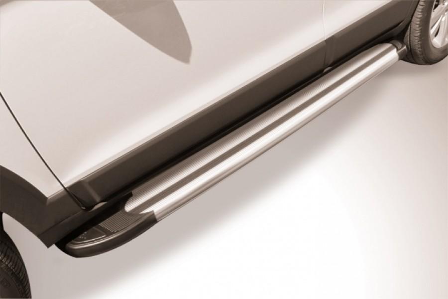 """Пороги алюминиевые """"Luxe Silver"""" 1700 серебристые"""