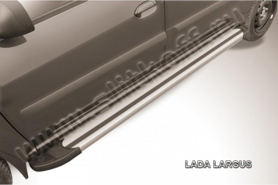 """Пороги алюминиевые """"Luxe Silver"""" 2100 серебристые"""