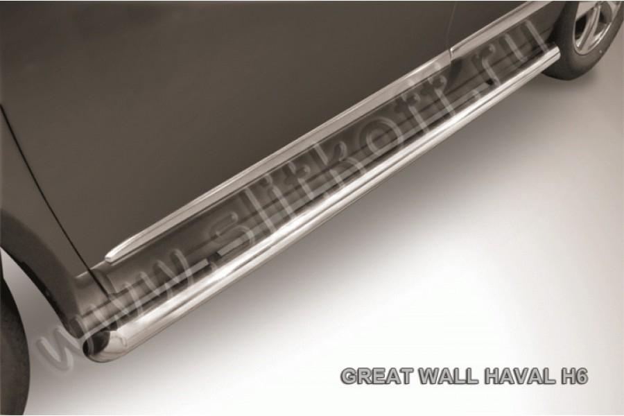 Защита порогов d57 труба со скосами 45 градусов завальцованными
