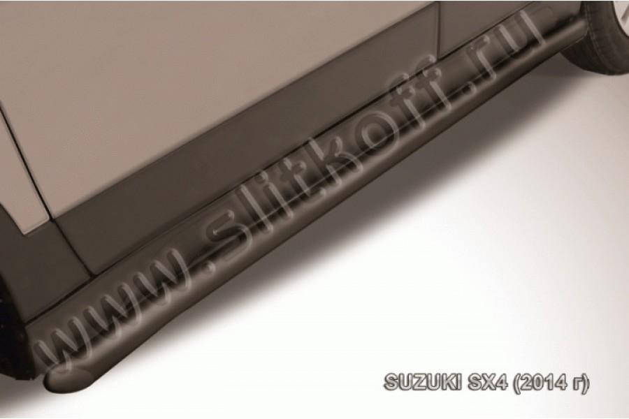 Пороги d57 с гибами из стали с полимерным покрытием (черное или серебристое покрытие)