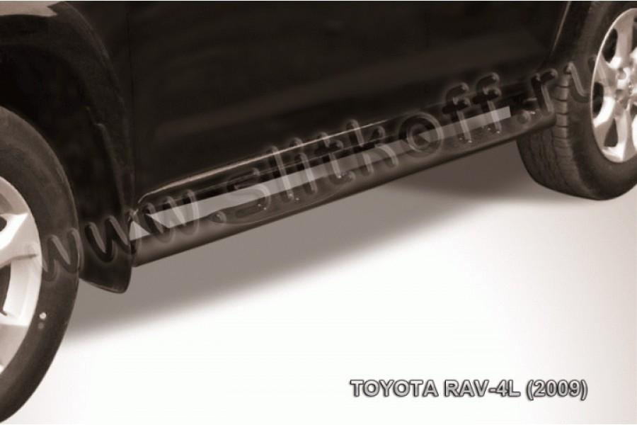 Пороги d76 с проступями черные из стали с полимерным покрытием (черное или серебристое покрытие)