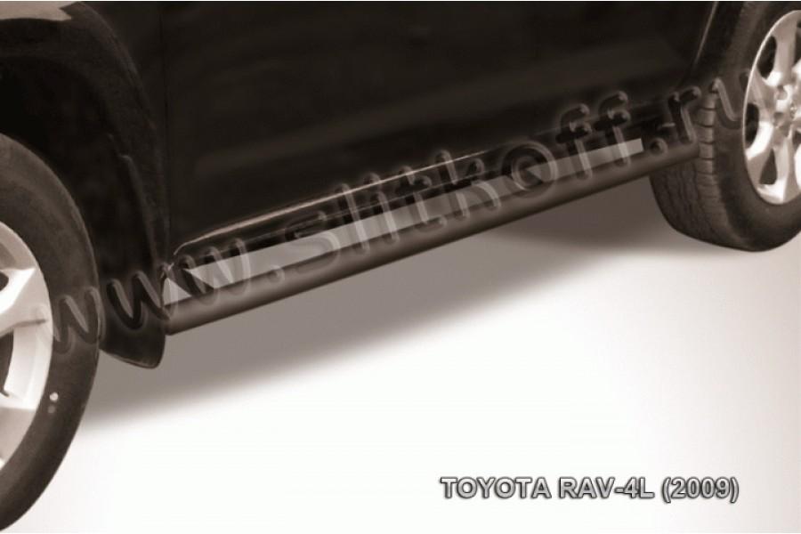 Пороги d57 труба черные из стали с полимерным покрытием (черное или серебристое покрытие)