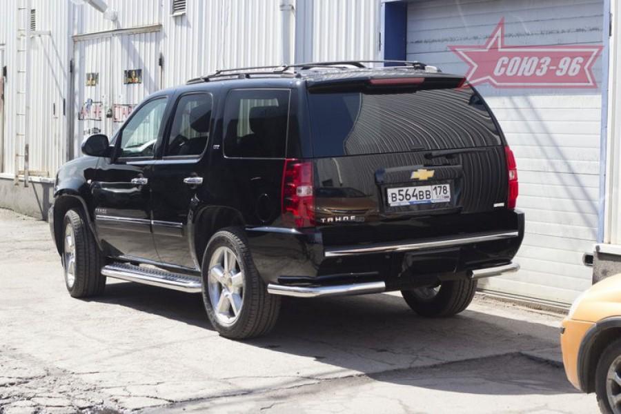 Защита задняя уголки d76,Chevrolet Tahoe 2011-