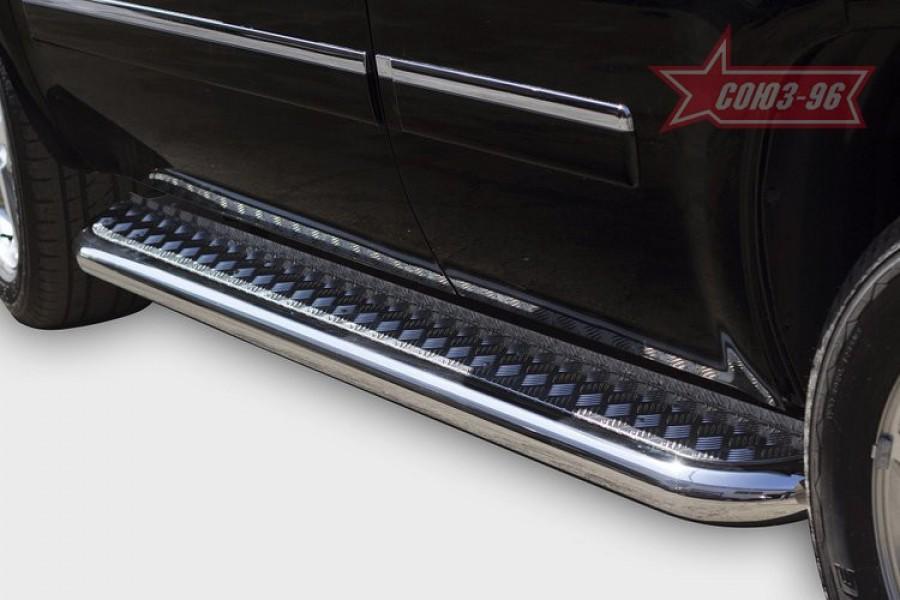 Пороги с листом d76,Chevrolet Tahoe 2011-