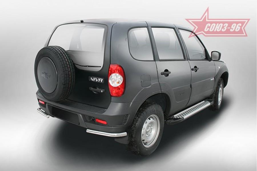 Защита задняя уголки d42,Chevrolet Niva 2014-