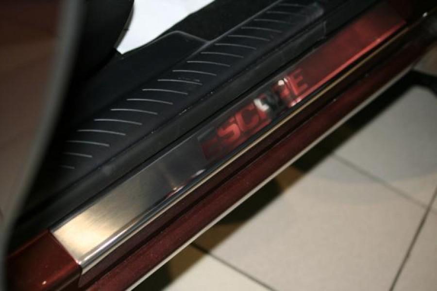 "Накладки на внутр. пороги с логотипом ""Souz-96"" (компл.4шт.) на металл ""Ford Escape"" 2008-"