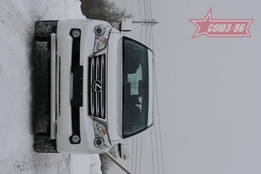 "Защита переднего бампера d 76 одинарная ""Lexus GX 460"""