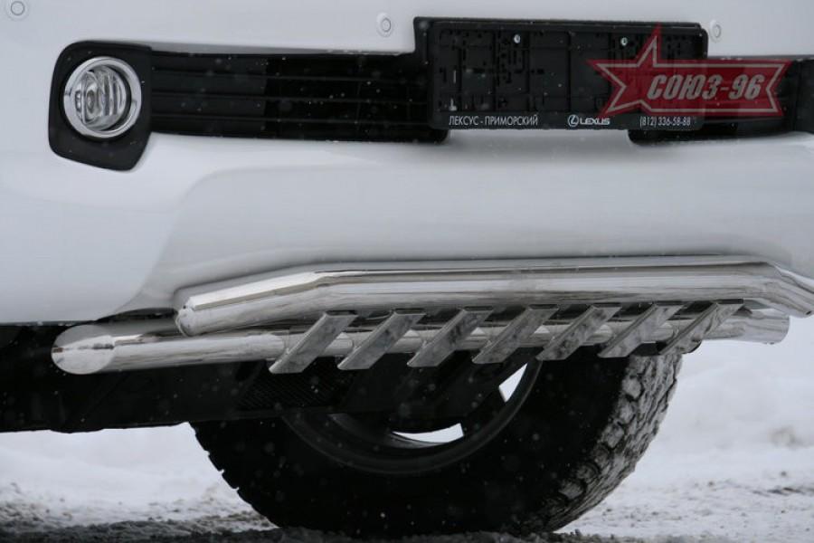 """Защита переднего бампера d 60/60 с элементами из профиля """"Lexus GX 460"""""""