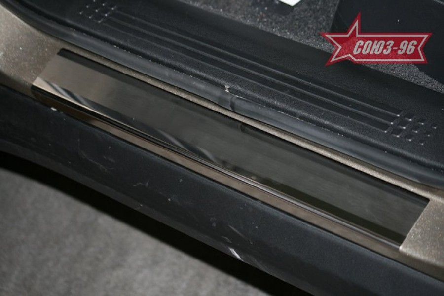 "Накладки на внутр. пороги без логотипа (компл.4шт.) вместо пласт.""Honda Pilot"" 2009-"