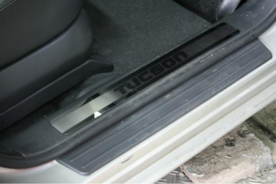 "Накладки на внутр. пороги с логотипом ""Souz-96"" (компл.4шт.) на пластик ""Hyundai Tucson""2005-"