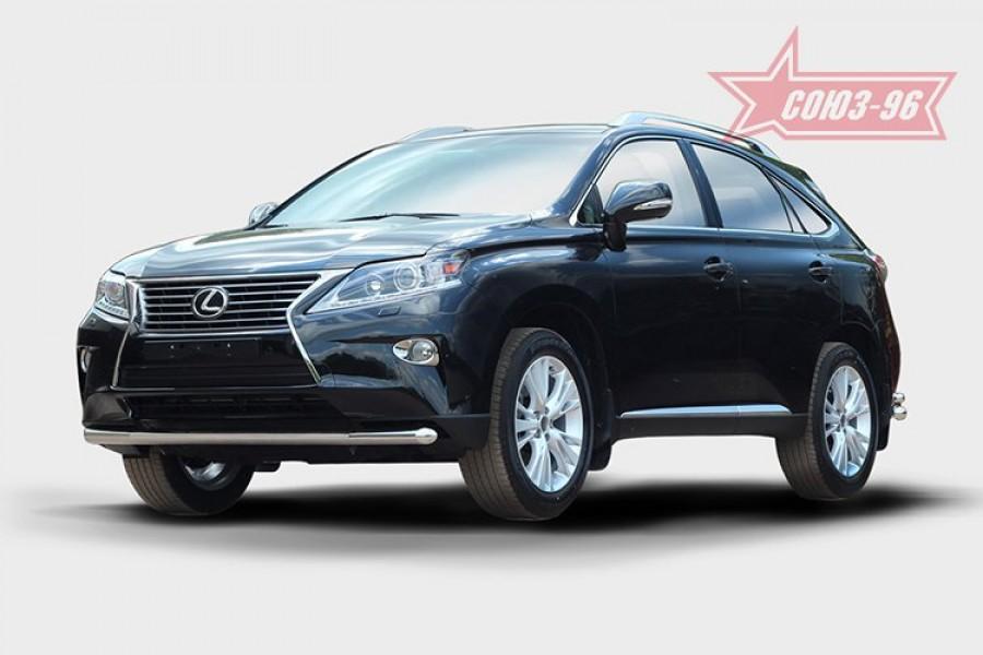 Защита переднего бампера труба d60,Lexus RX 270/350/450h 2012-