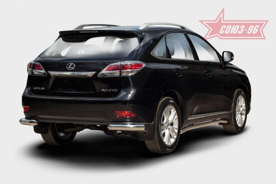 Защита задняя уголки d76,Lexus RX 270/350/450h 2012-