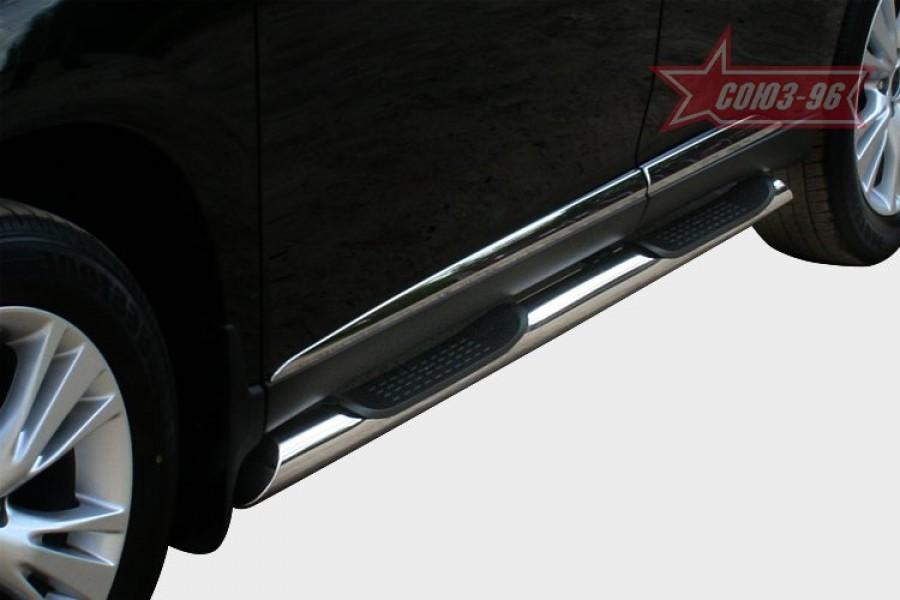 Пороги с проступями d76,Lexus RX 270/350/450h 2012-