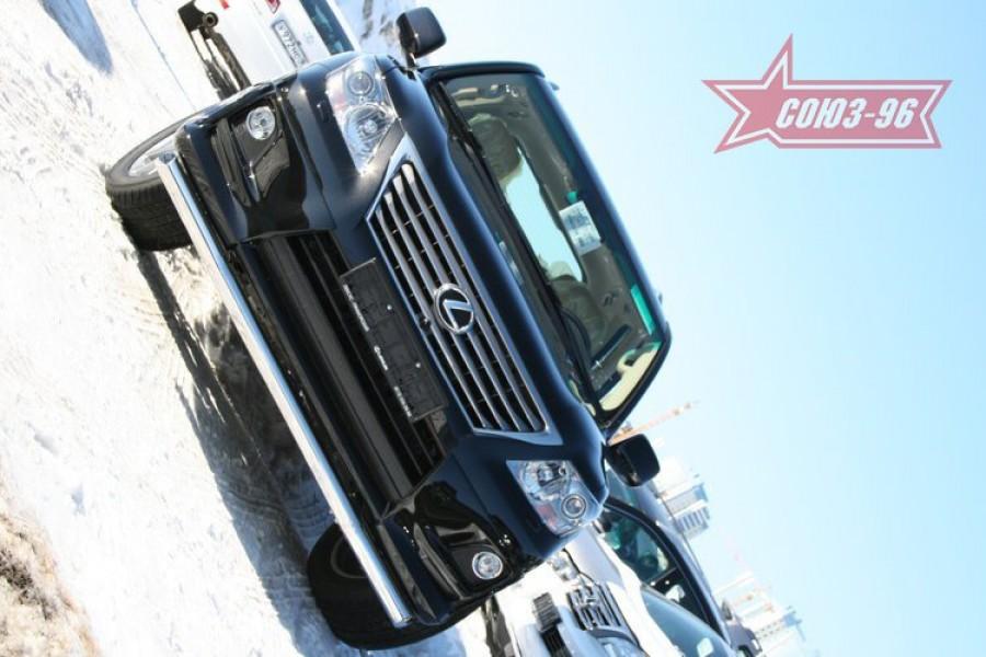 "Защита переднего бампера d 76 одинарная ""Lexus LX 570 Sport Package"" 2010-"