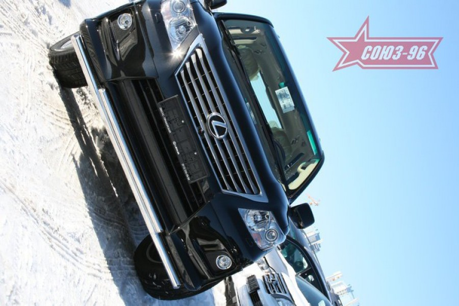 "Защита переднего бампера d 60/42 двойная ""Lexus LX 570 Sport Package"" 2010-"