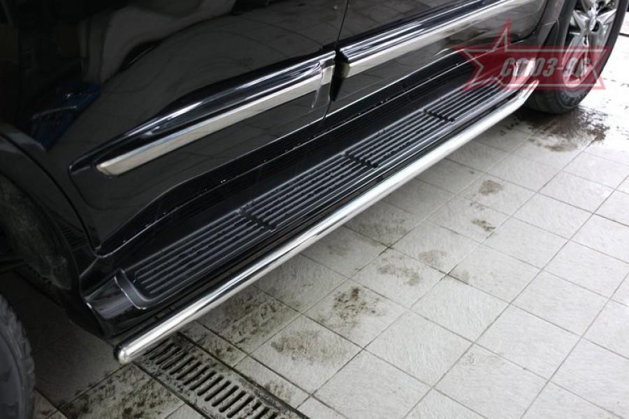 Защита штатного порога d42,Lexus LX570 2012,LC200 2013