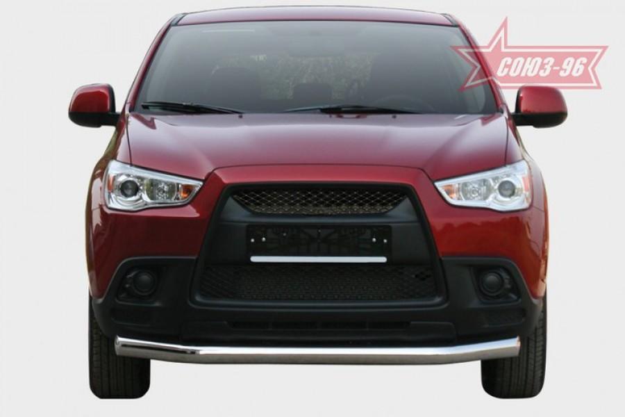 """Защита переднего бампера d 76 """"Mitsubishi ASX"""" 2010-"""