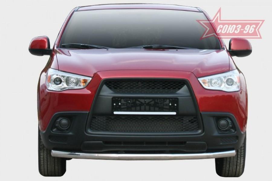 """Защита переднего бампера d 60 """"Mitsubishi ASX"""" 2010-"""