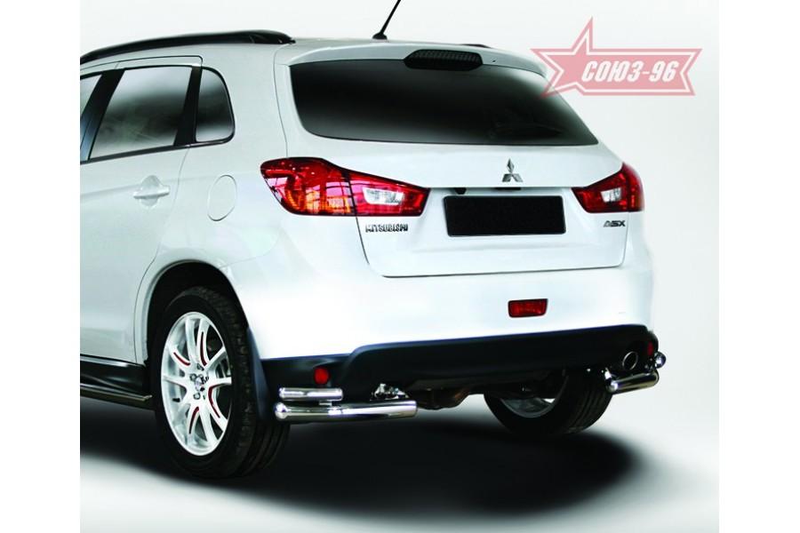 Защита задняя уголки d60/42 двойные,Mitsubishi ASX 2013-