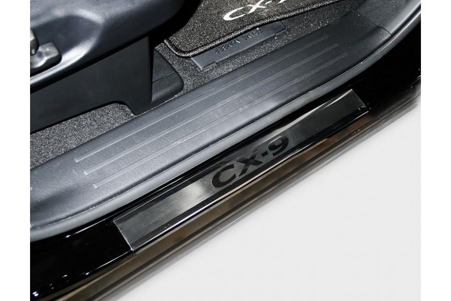 """Накладка на внутренние пороги с логотипом """"Союз-96"""" (компл. 4шт.),Mazda CX-9 2013-"""