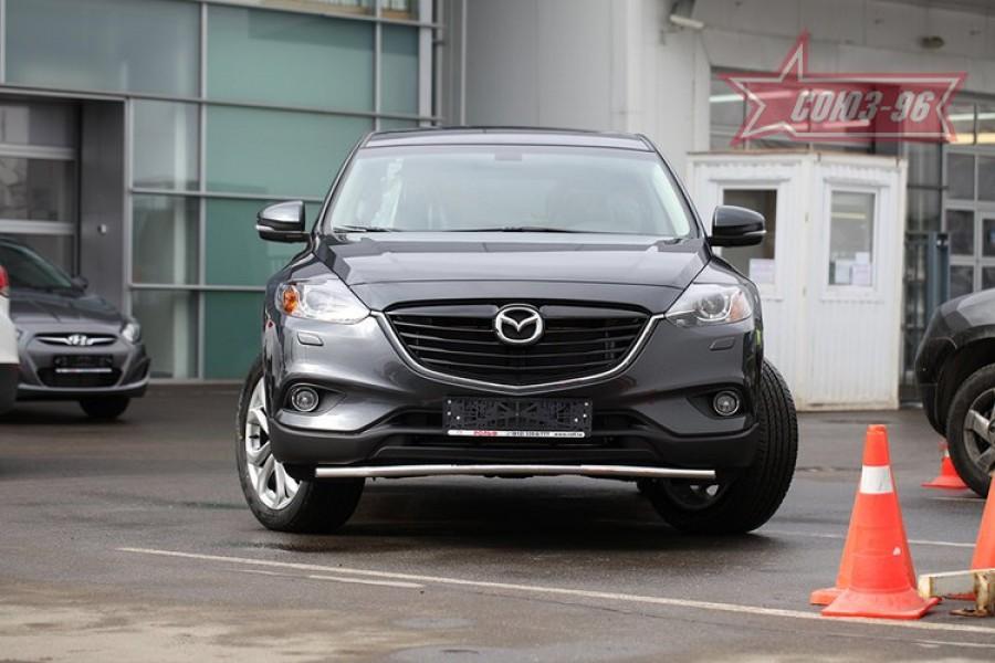 Защита переднего бампера труба d42 Premium,Mazda CX-9 2013-