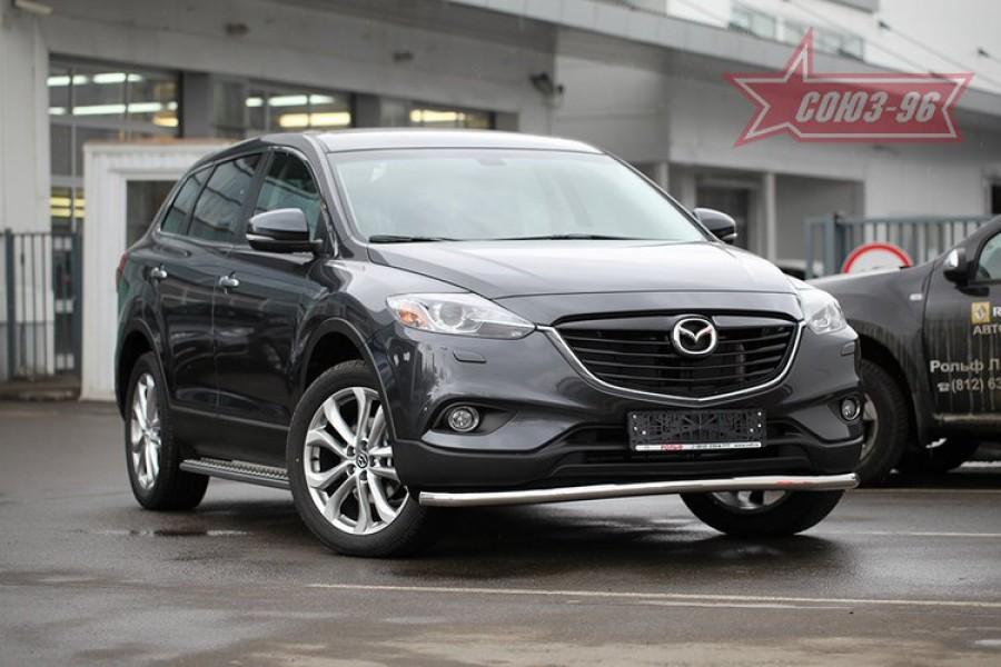 Защита переднего бампера труба d60 Premium,Mazda CX-9 2013-