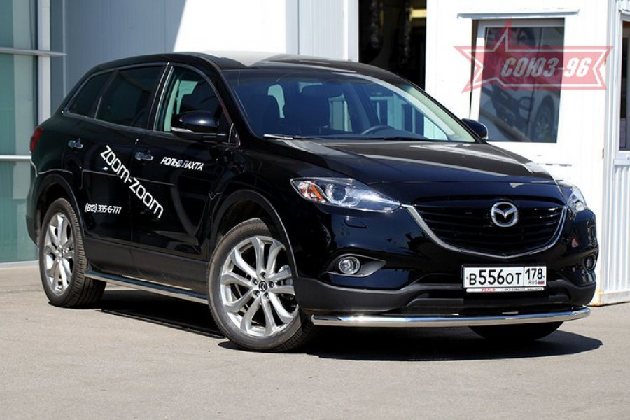 Защита переднего бампера труба d60,Mazda CX-9 2013-