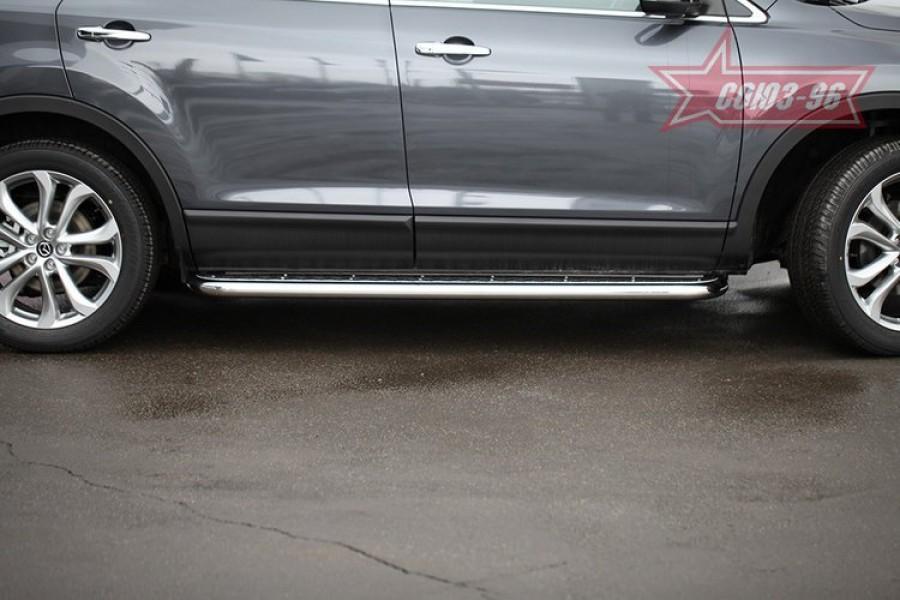 Пороги с листом d60,Mazda CX-9 2013-