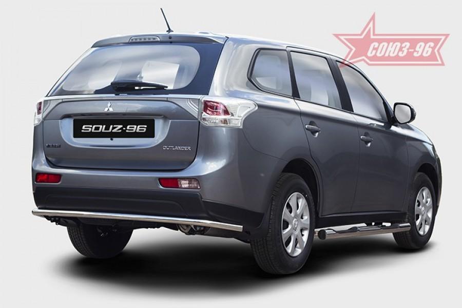 Защита задняя d42 Premium,Mitsubishi Outlander 2012-